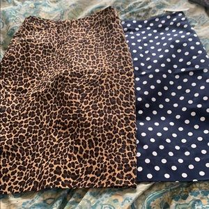 Lot of 2 JCrew pencil skirts! New size 0